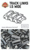 Brickmania Track Links™ - Chevron One and a Half  Wide - White- x150