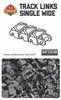 Brickmania Track Links™ - Chevron Single Wide - Off Color - x200