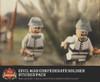 Civil War Confederate Soldier Sticker Pack