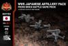 WWII Japanese Artillery Pack - Type 1 47mm Anti-Tank Gun, Type 91 10cm Howitzer, & Type 88 75 mm AA Gun