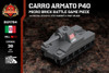 Carro Armato P40 - Micro Brick Battle Game Piece