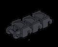 Brickmania® Track Links™ V2 - Chevron Single  Wide - Black - x200