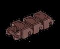 Brickmania® Track Links™ V2 - Chevron Single Wide - Brown - x200