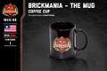 Black Mug with Brickmania shield (red)