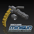 BrickArms Minigun with Bullet Chain - Gunmetal
