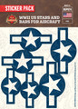 WWII US Stars And Bars For Aircraft - Sticker Pack