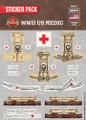 WWII US Medic - Sticker Pack