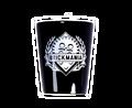 Black Shot Glass with Brickmania Shield (white)