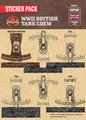 WWII British Tank Crew Sticker Pack