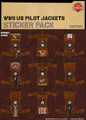 WWII US Pilot Jackets - Sticker Pack
