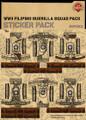 WWII Filipino Guerilla Squad Pack - Sticker Pack