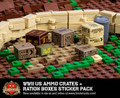 WWII US Ammo Crates and Ration Boxes - Sticker Pack