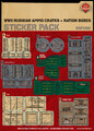 WWII Russian Ammo Crates and Ration Boxes - Sticker Pack