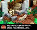 WWII Japanese Ammo Crates & Ration Boxes - Sticker Pack