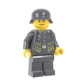 WWII German Soldier with MP40 Pouches - Dark Gray