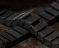 Brickmania® Track Links™ V2 - Chevron One and a Half  Wide - Black - x150