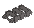 Brickmania® Track Links™ V2 - Chevron One and a Half Wide - Steel - x150