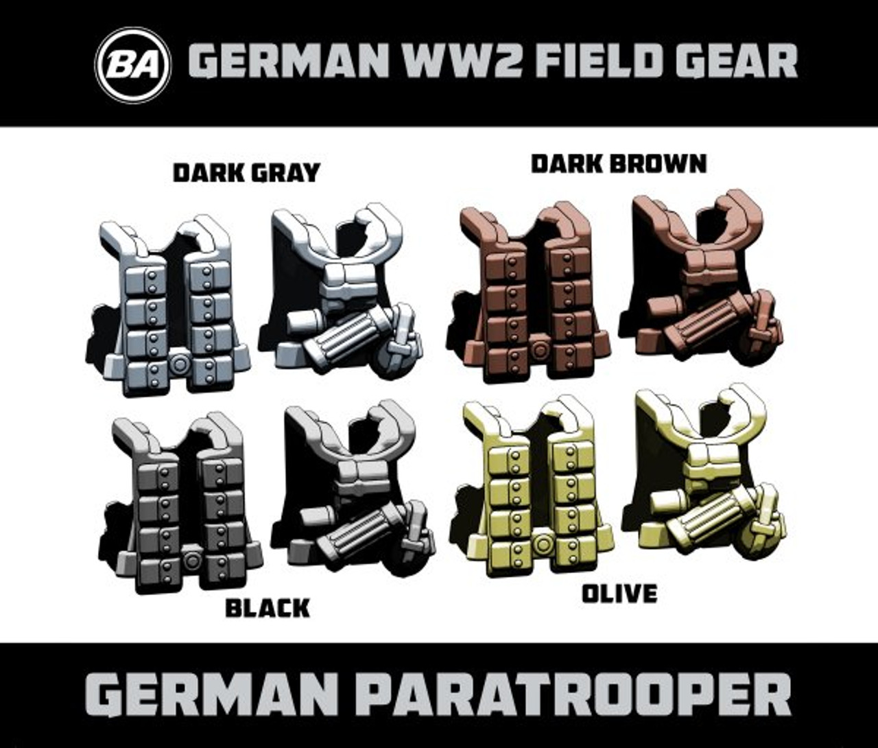 BrickArms German Paratrooper - WWII Field Gear