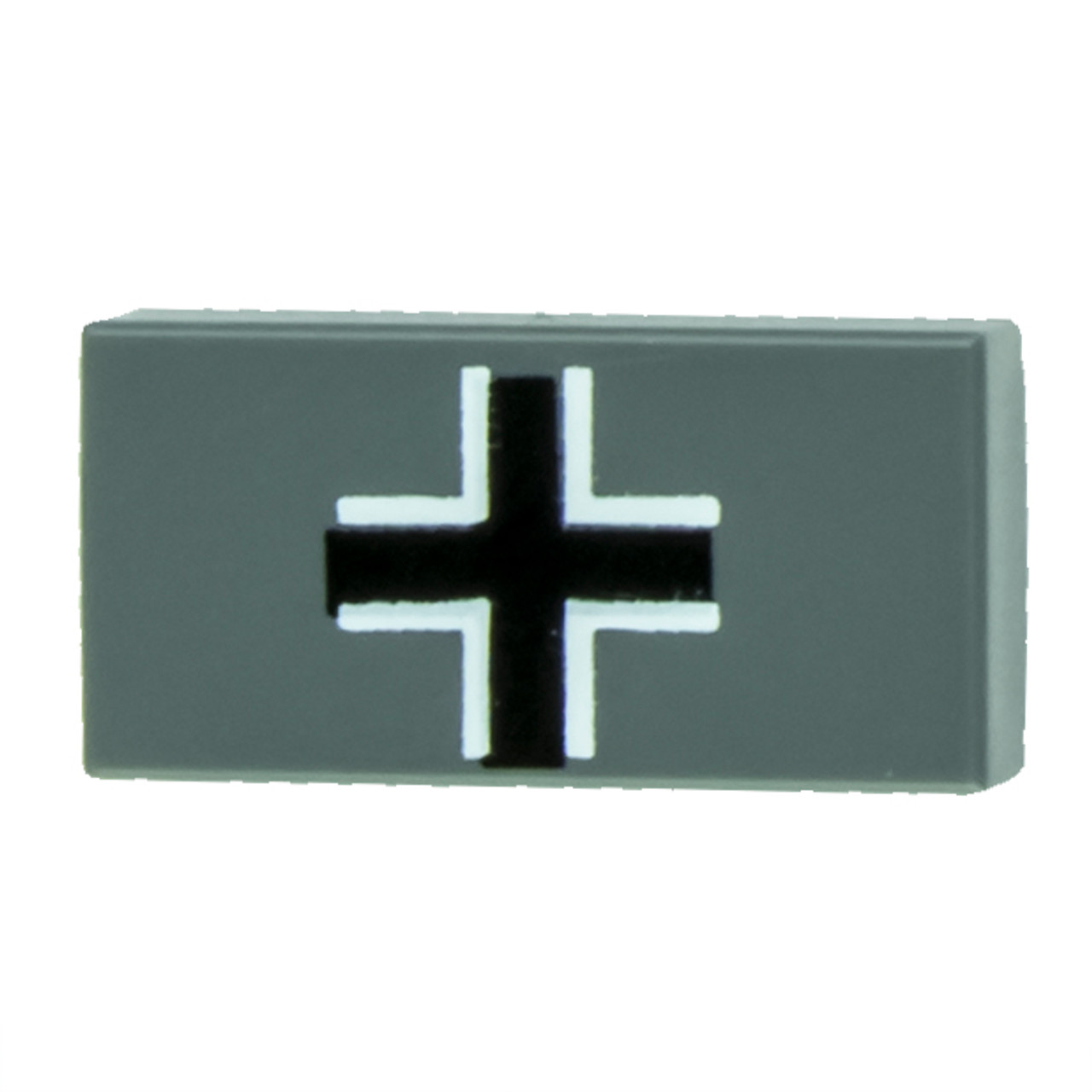 1x2 Balkenkreuz Tile - Dark Gray