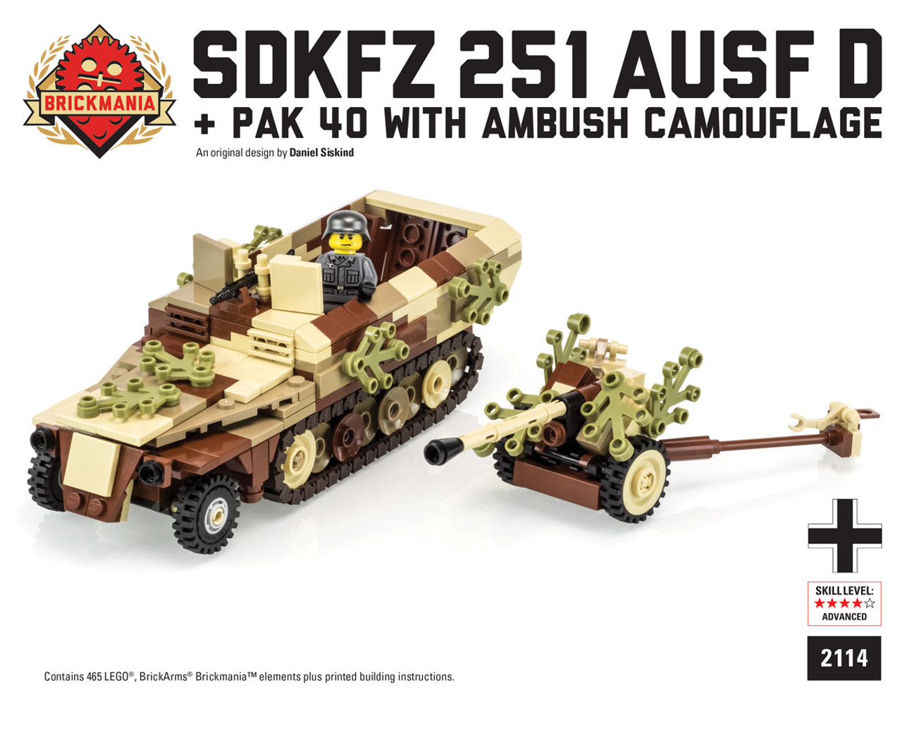 SdKfz 251 ausf D + Pak 40 with Ambush Camo