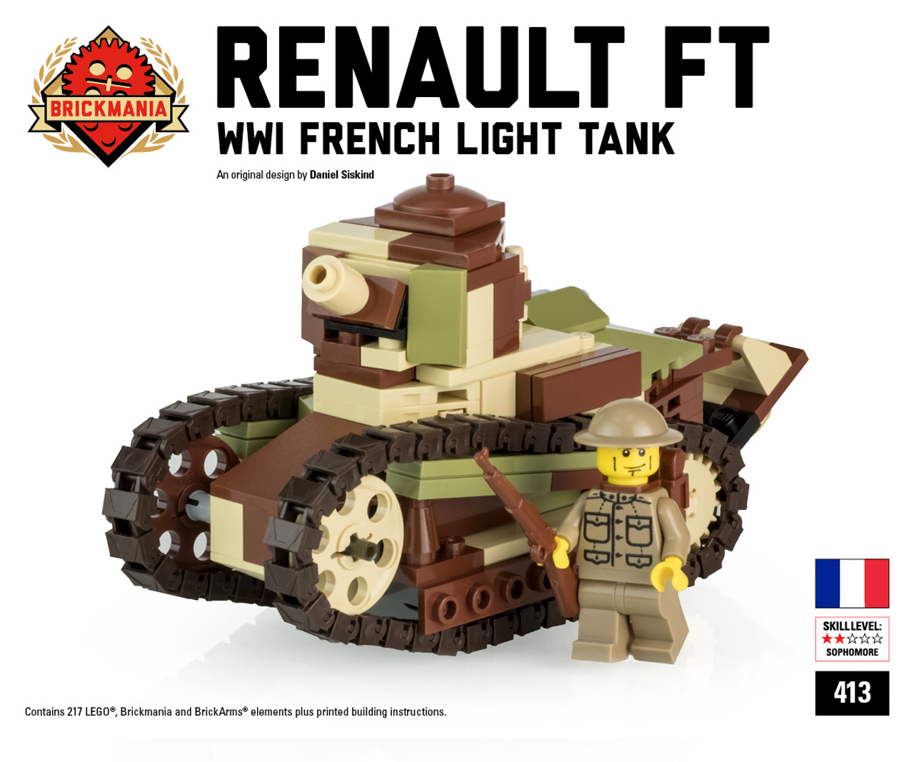 Renault Ft French Light Tank Brickmania Toys