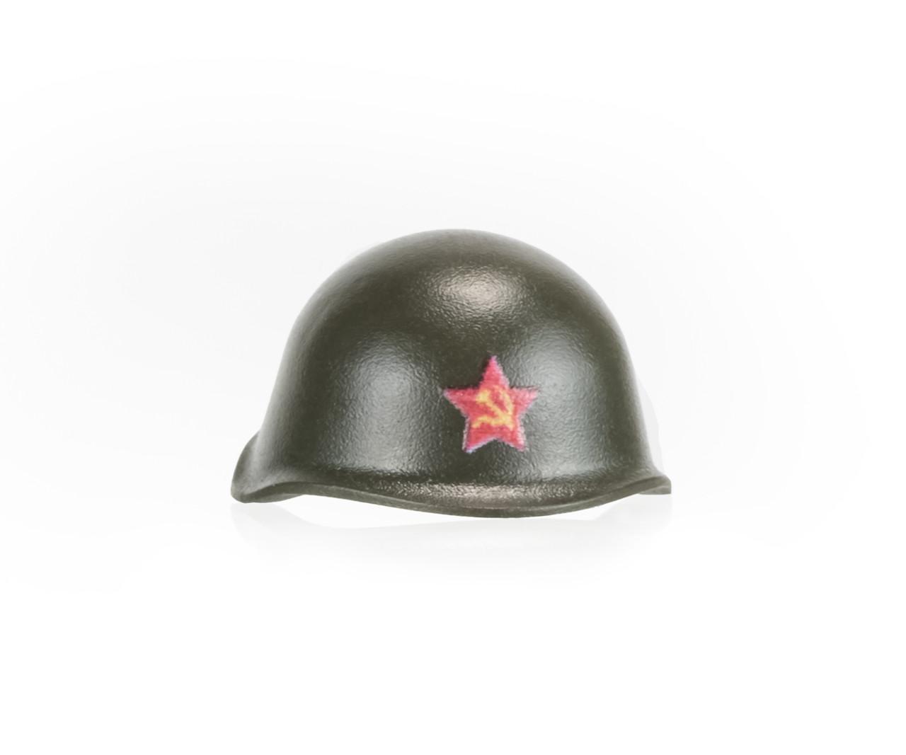 BrickArms SSh-40 Helmet  With Printed Soviet Star