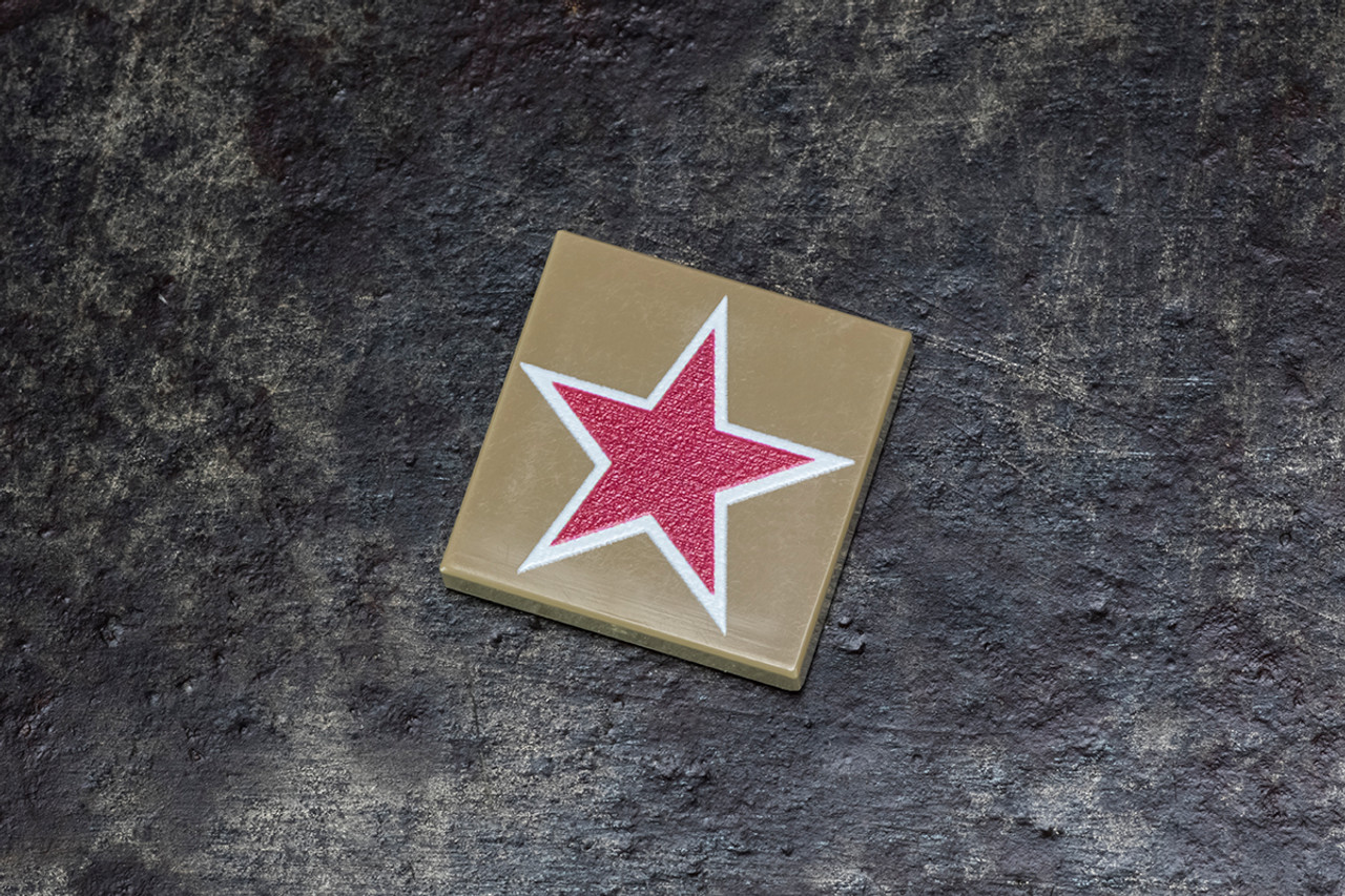 2x2 Tile with Red Star