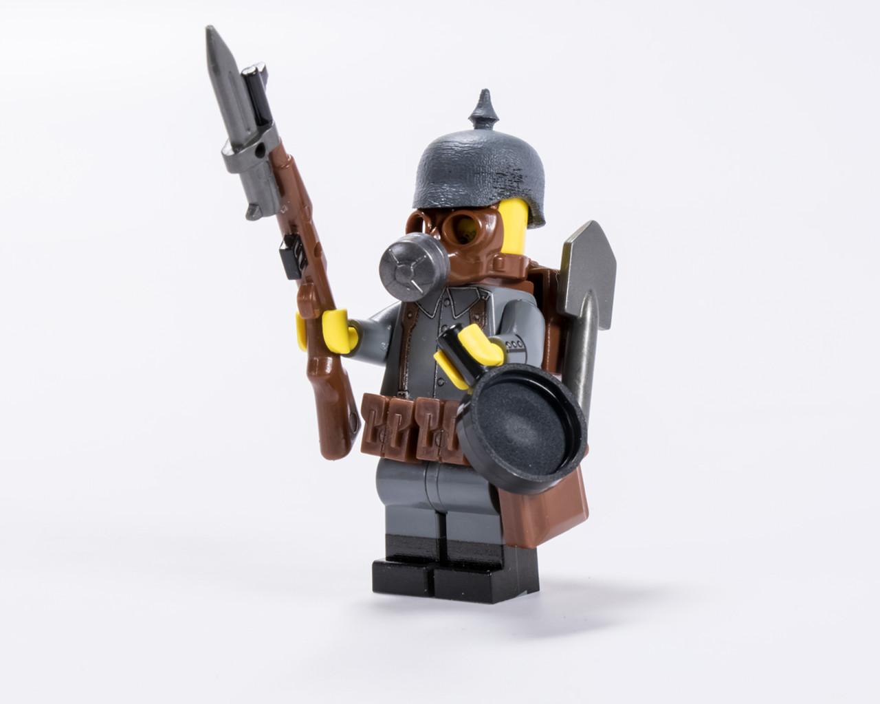 German Ww1 Gas Mask Soldier V2 Brickmania Toys