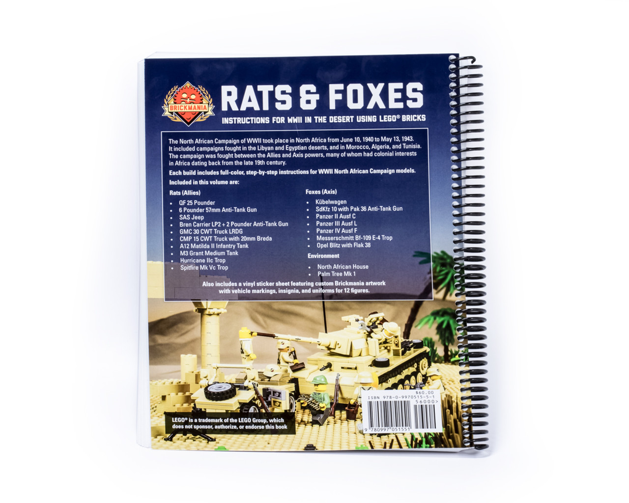 Rats and Foxes: Building Instructions for WWII in the Desert using LEGO® Bricks