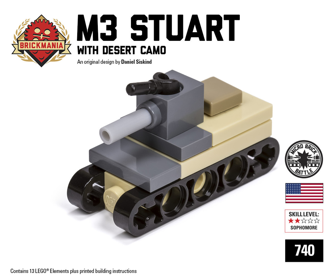 Micro Brick Battle - M3 Stuart