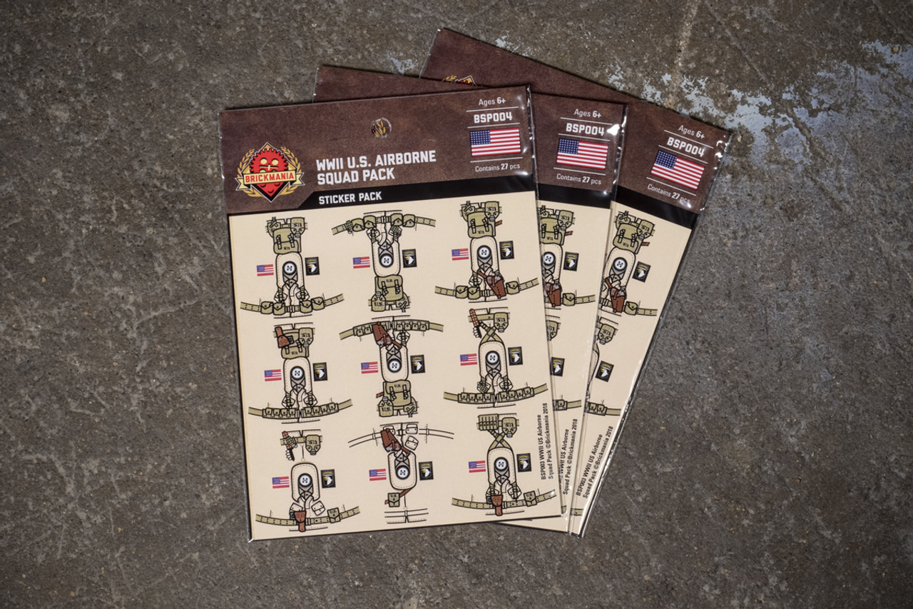 WWII US Airborne - Squad Pack - Sticker Pack