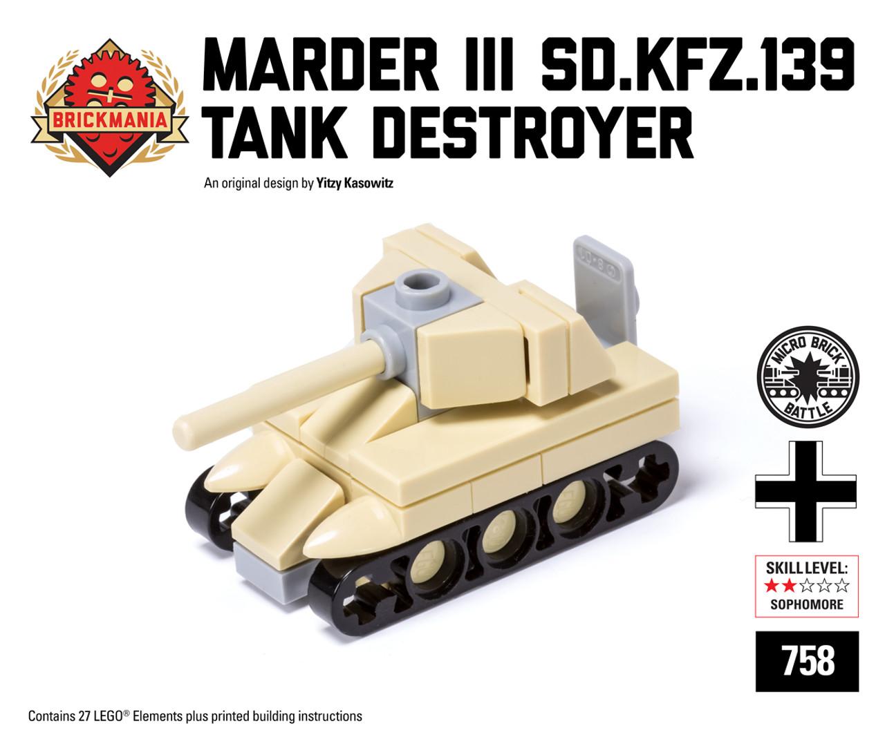 Micro Brick Battle - Marder III (Sd Kfz 139) - Desert