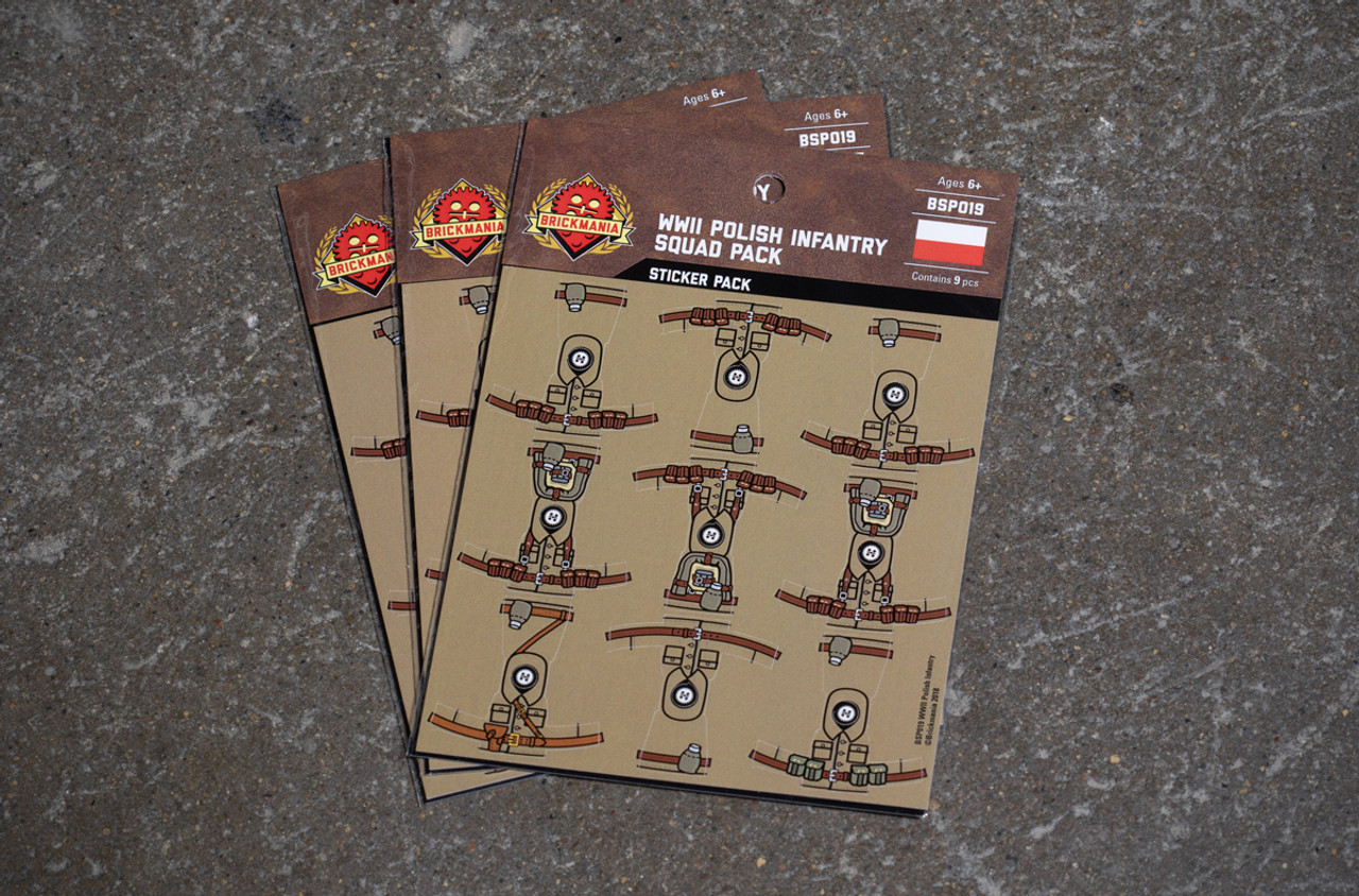 WWII Polish Infantry - Squad Pack - Stickers