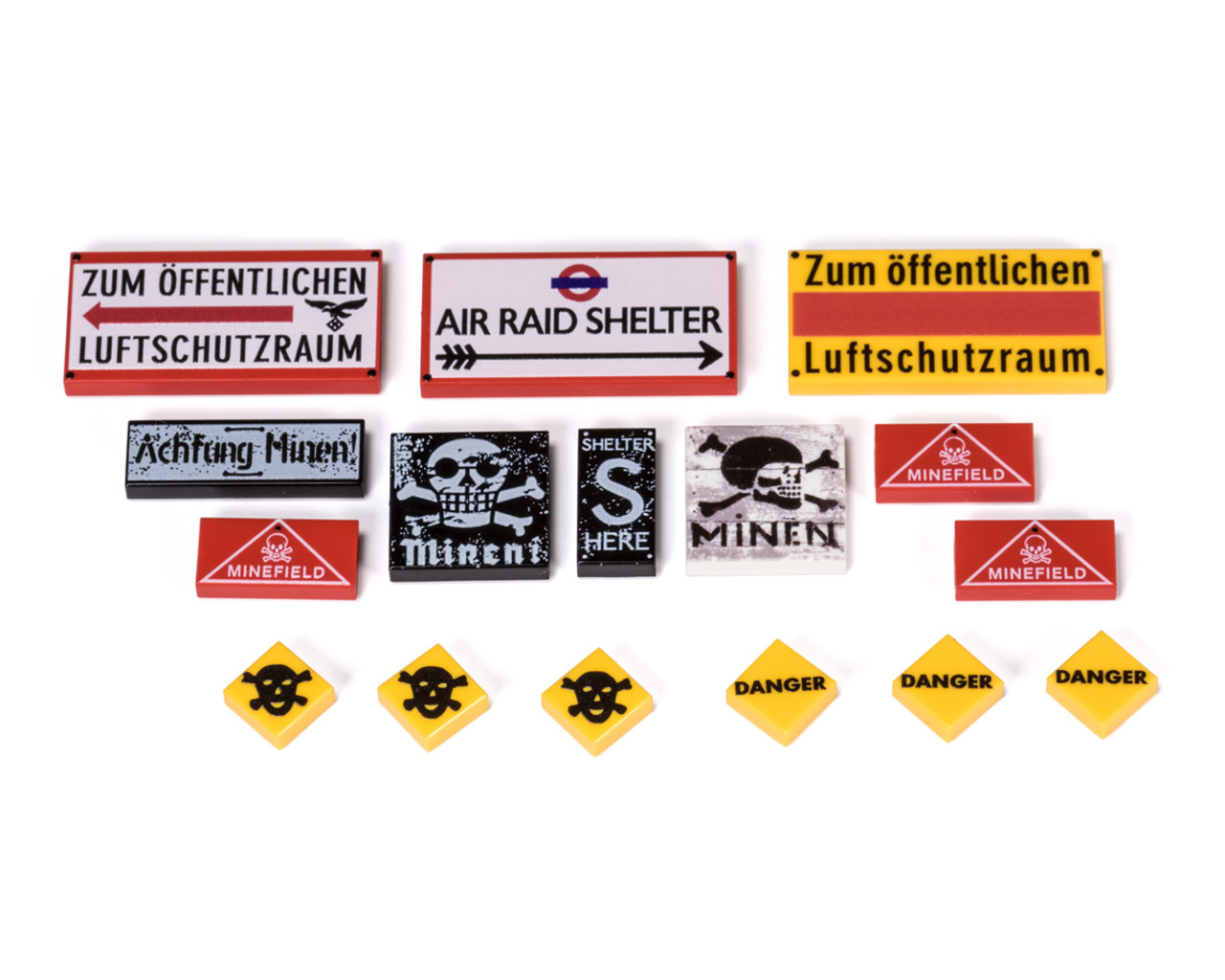 Air Raid Shelter & Mine Field Sign Tiles