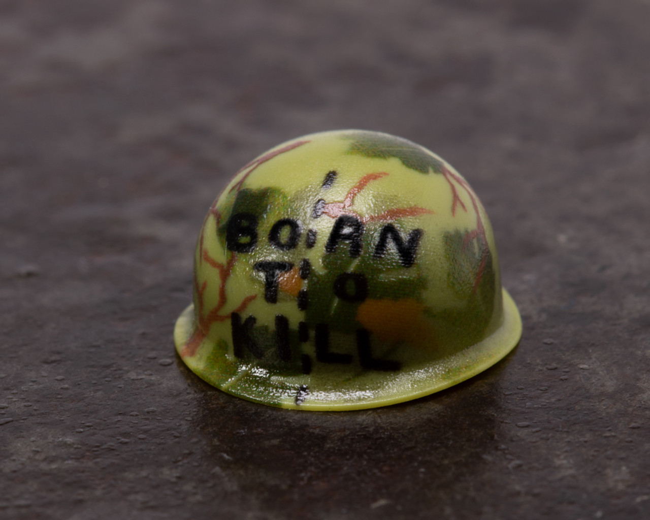 Born to Kill Vietnam Helmet with Mitchell Pattern
