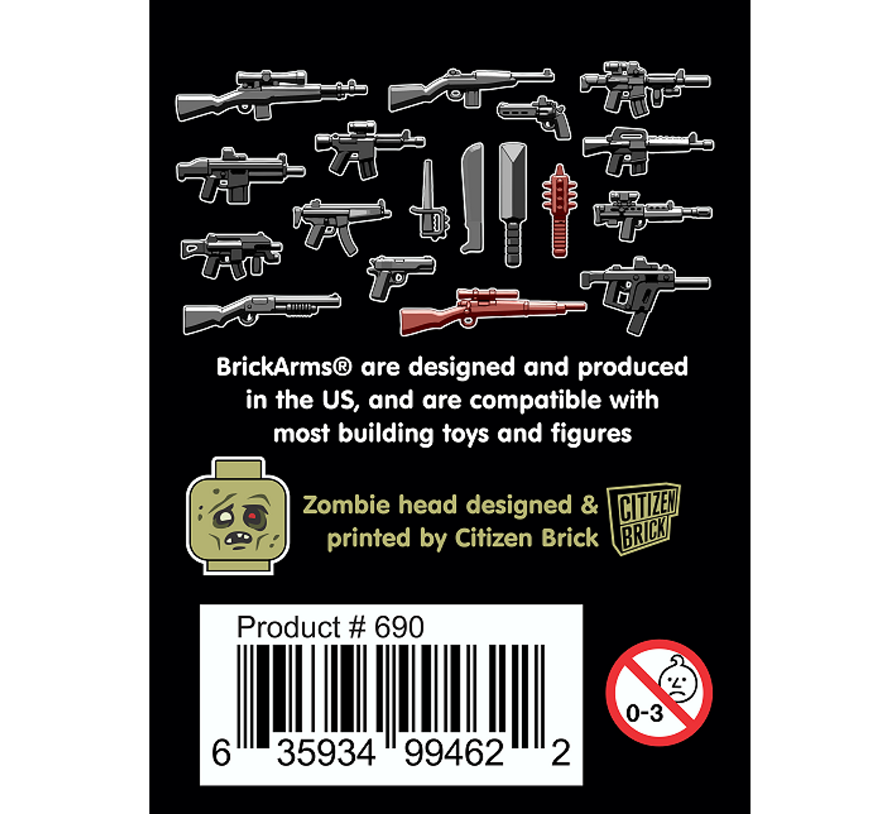 BrickArms Zombie Defense Pack (2018)