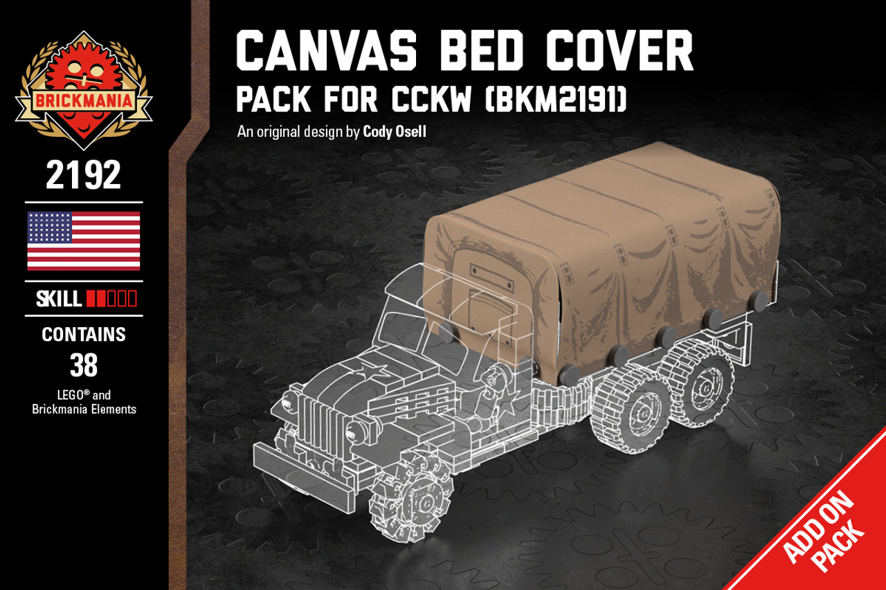 Canvas Bed Cover - Pack for 2 1/2 Ton Cargo Truck (BKM2191)