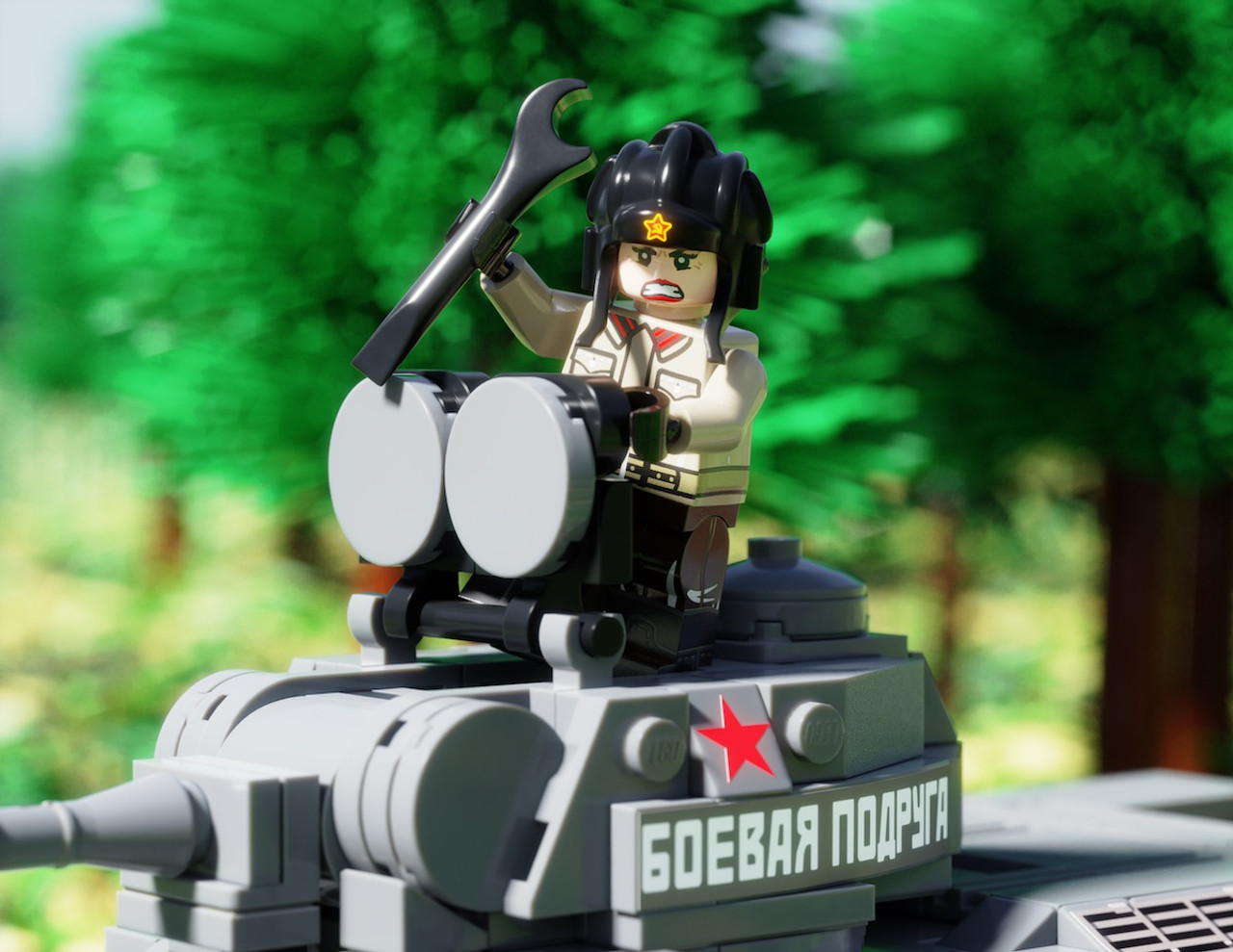 "T-34 Model 1943 ""Fighting Girlfriend"" Add-On Pack with Tank Driver Mariya Oktyabrskaya"