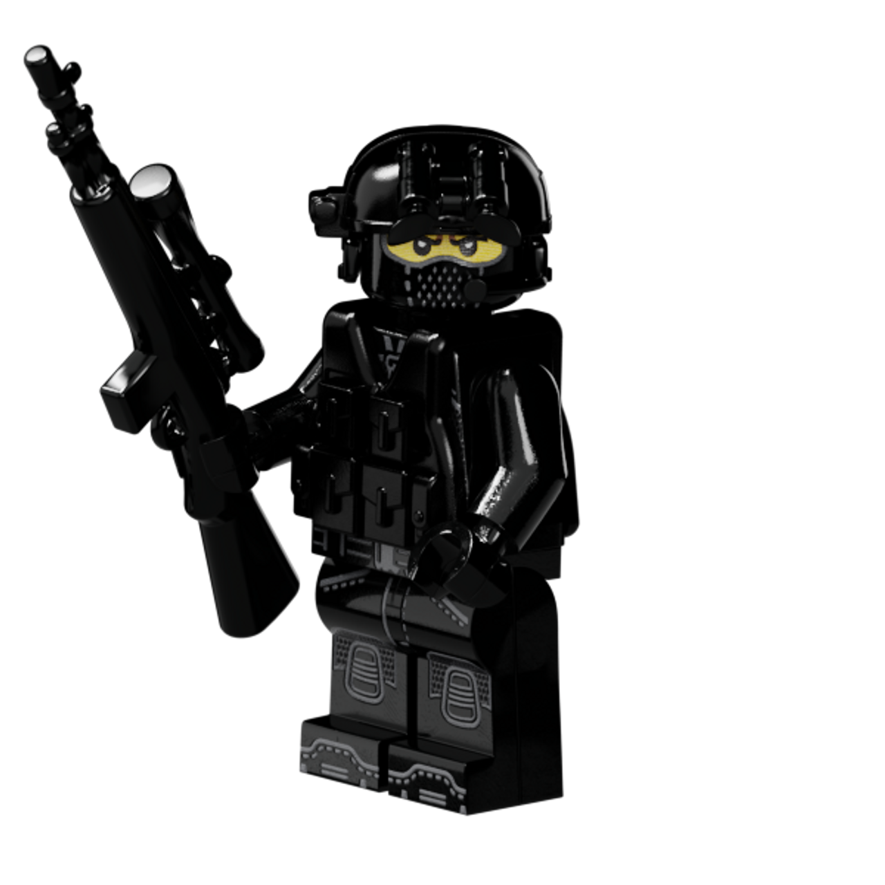Brickarms M21 Sniper Rifle for Lego Minifigures 5 Pack Black