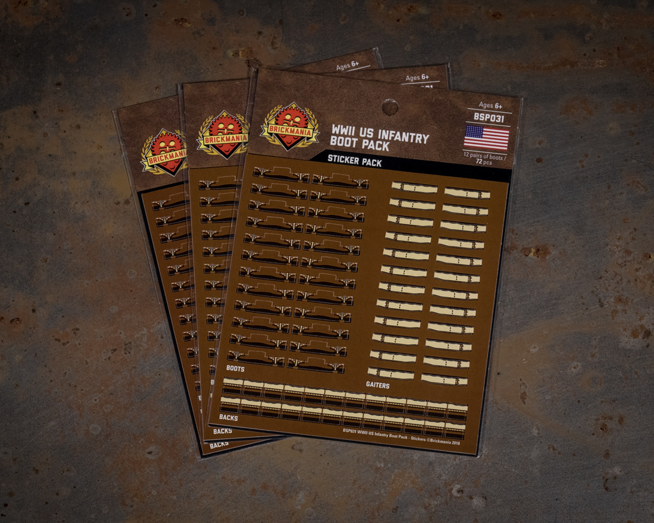 WWII US Infantry Boot Pack - Stickers