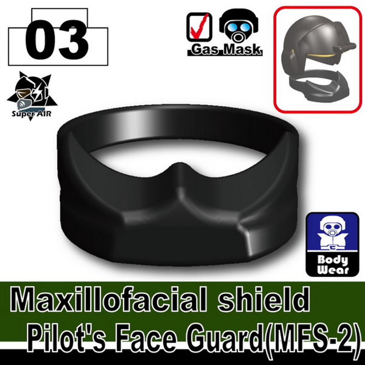 Minifig.Cat Pilot's Face Guard (MFS-2)