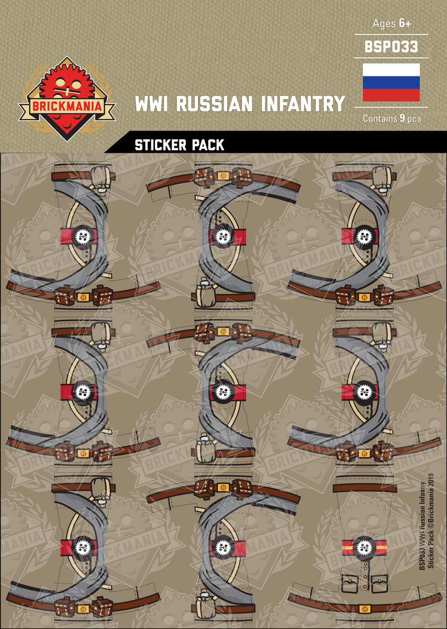 WWI Russian Infantry Sticker Pack