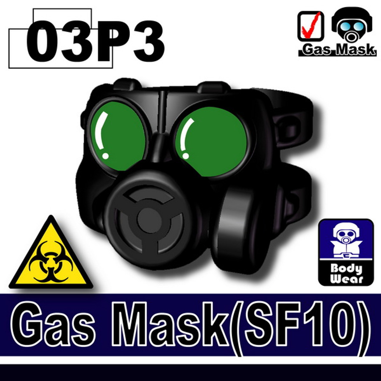 Minifig.Cat Gas Mask (SF10-P3)