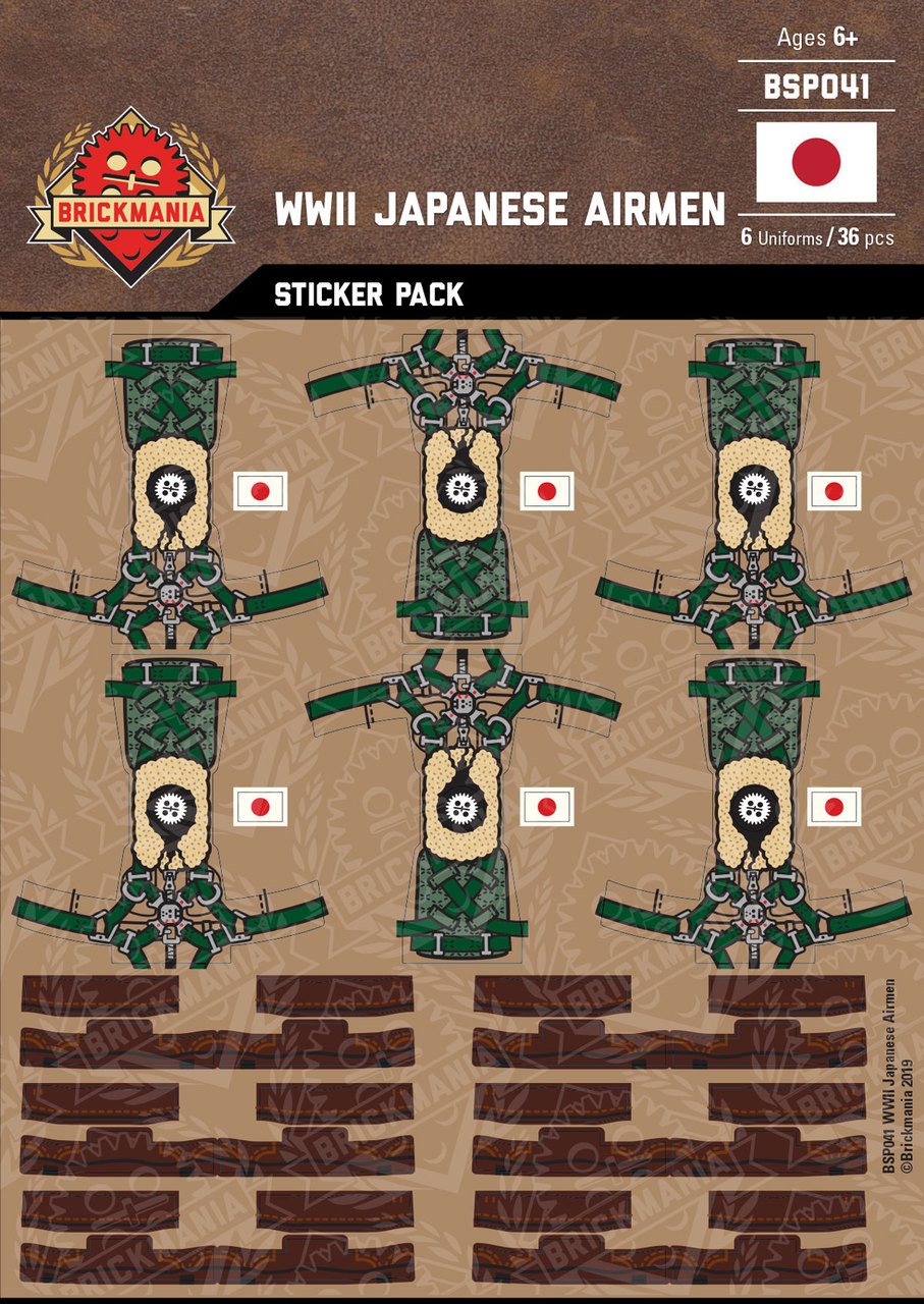WWII Japanese Airmen - Sticker Pack