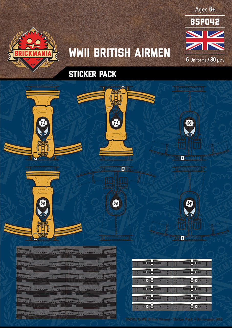 WWII British Airmen - Sticker Pack
