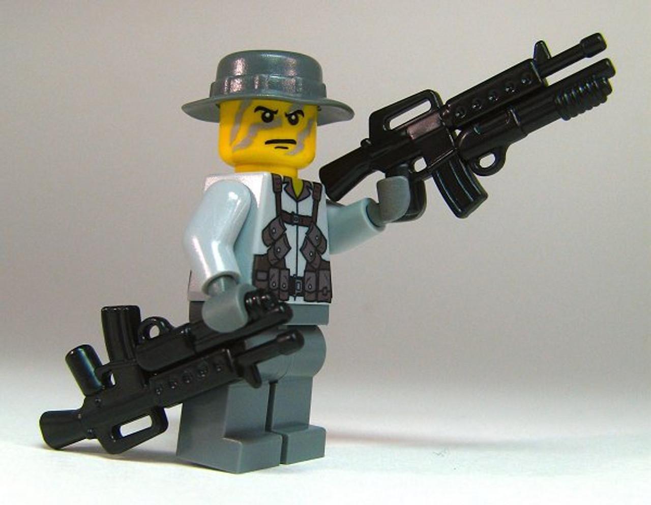 BrickArms Black M16 DBR Rifle Weapons for Brick Minifigures