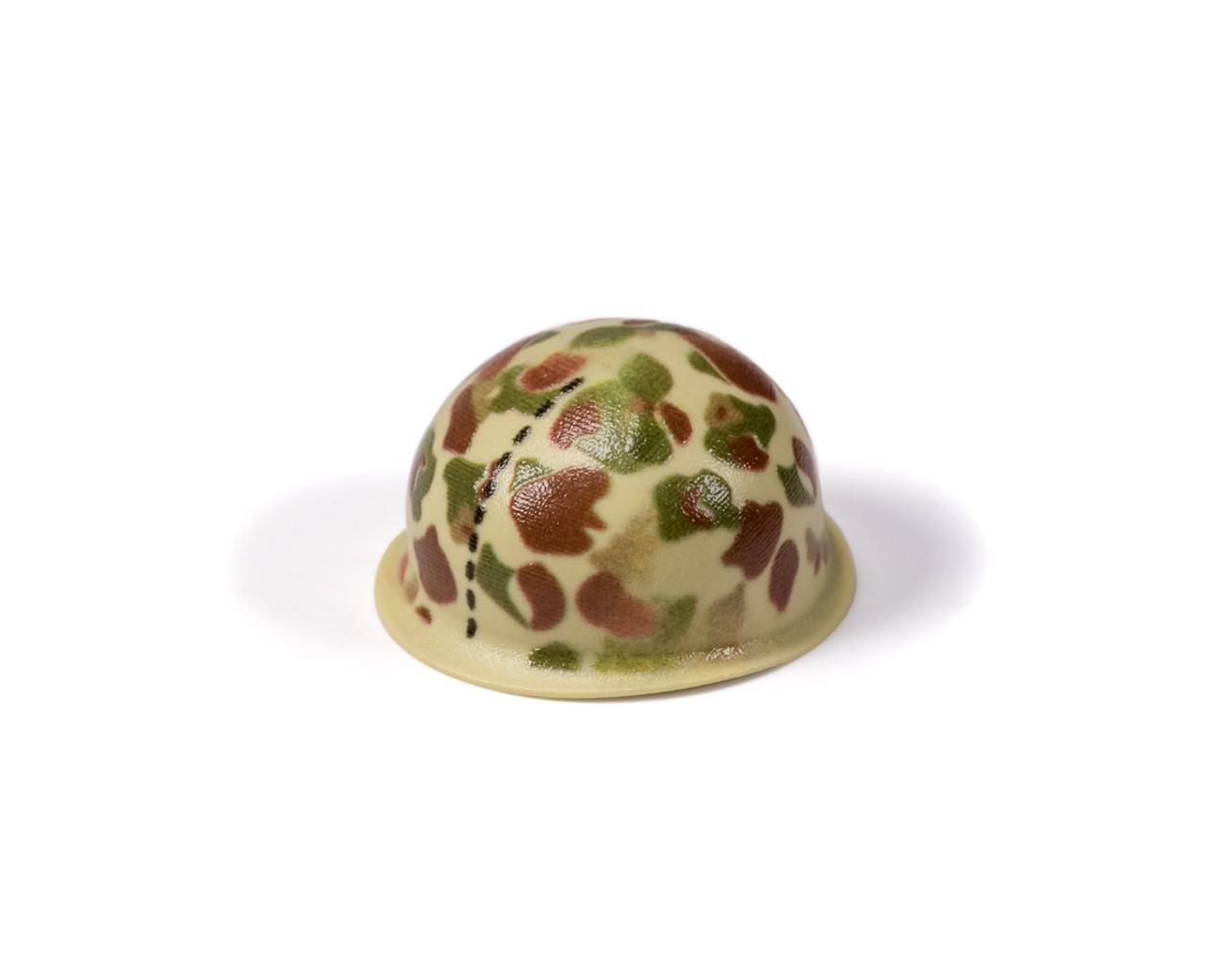 M1 Steel Pot Helmet - WWII US Marines Frog Skin Camouflage