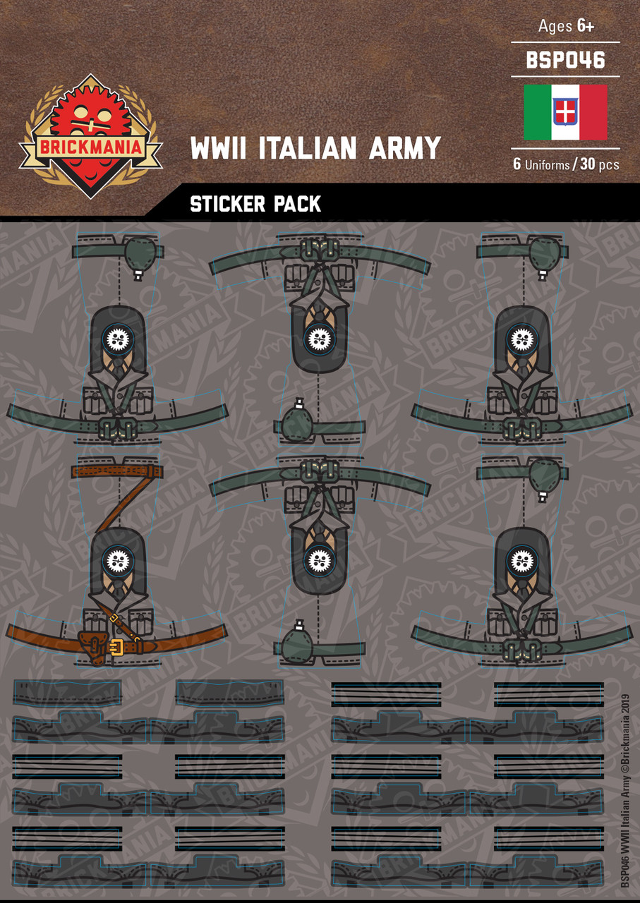 WWII Italian Army - Sticker Pack