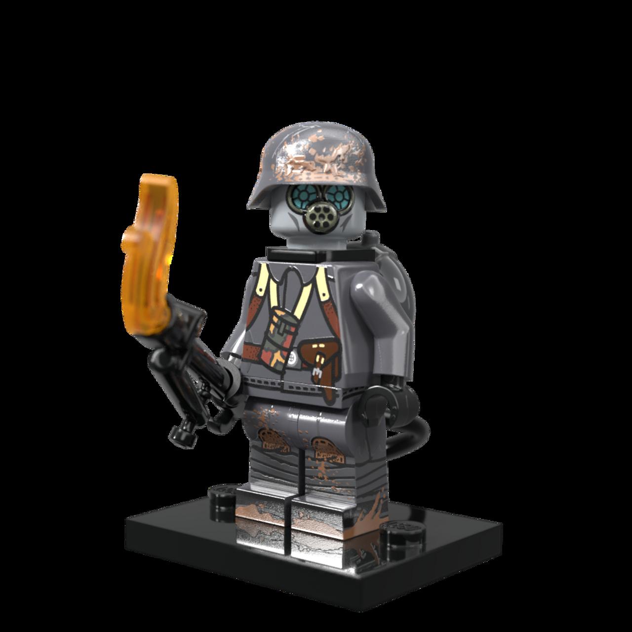 Lego Custom USA FLAMETROOPER Minifigure WWII Soldier W// Accessories