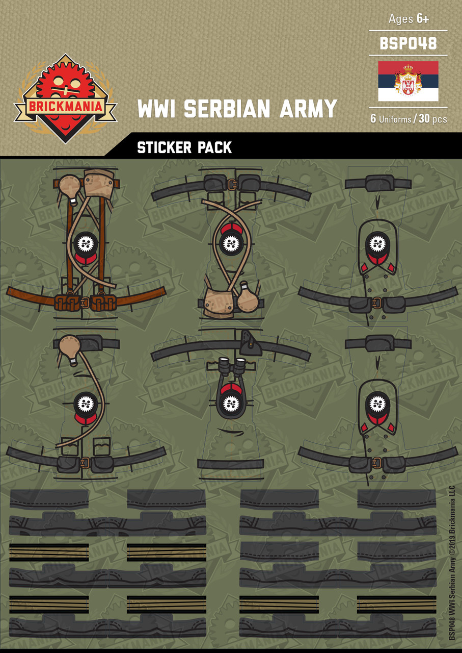 WWI Serbian Army - Sticker Pack